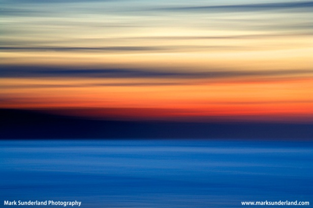 Abstract Sunset at  Whitby