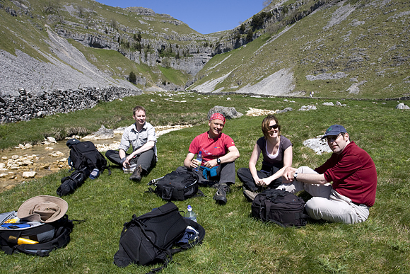 Lunch stop at Gordale Scar