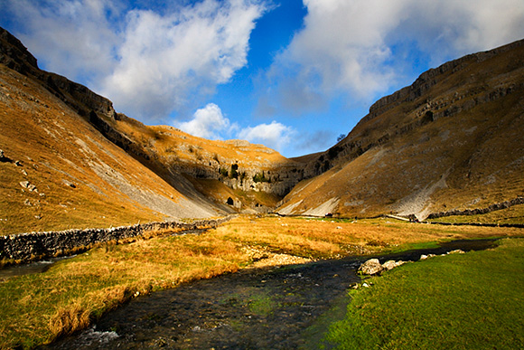 Winter Sunlight on Gordale Scar, Malhamdale
