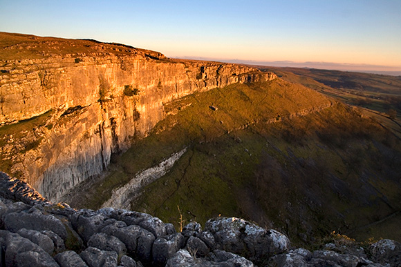 Last Light at Malham Cove Yorkshire Dales