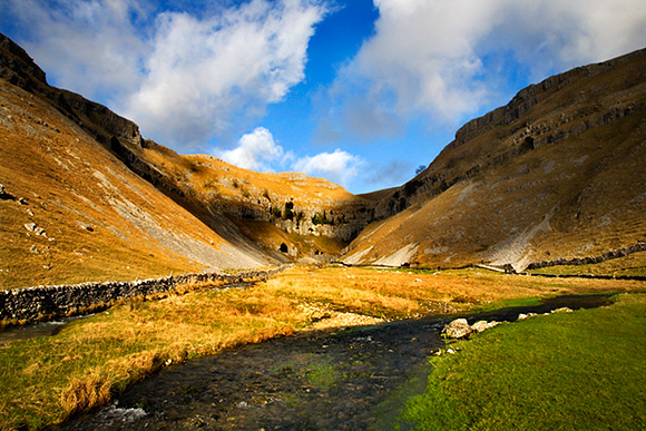 Sunlight on Gordale Scar, Malhamdale
