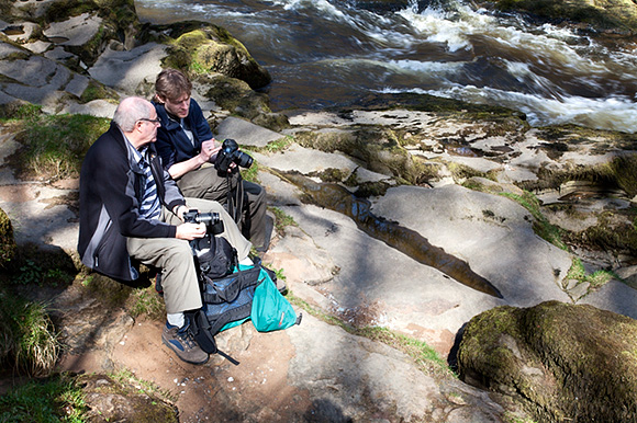 Sam showing how to read the histogram at The Strid