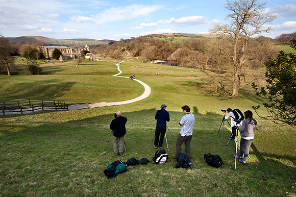Photographing Bolton Abbey at the end of the day