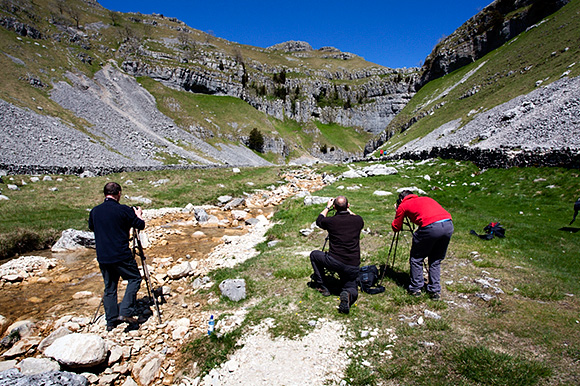 Photographing at Gordale Scar