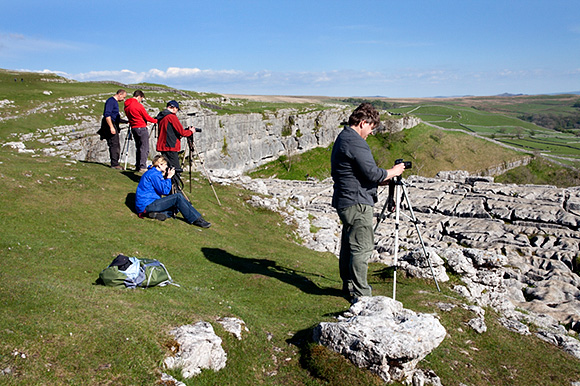 Photographing above Malham Cove