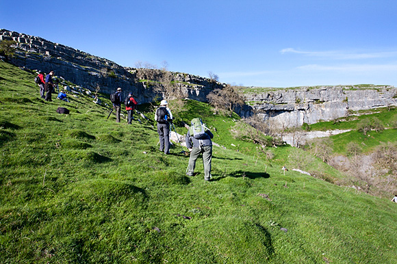 Photographing at Malham Cove