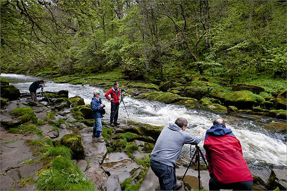 Capturing the fast flowing water at the Strid