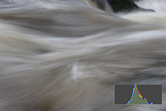 The Strid, straight out of the camera with narrow histogram