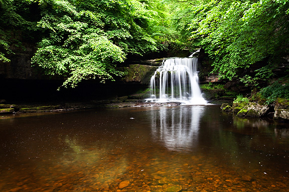 West Burton Waterfall in Summer