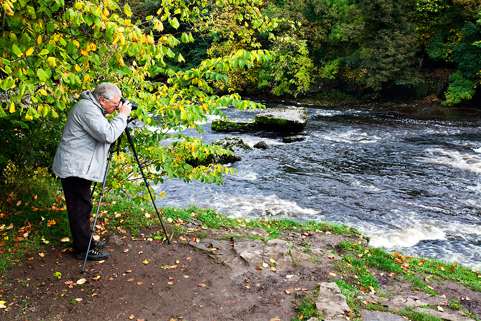 Photographing Upper Aysgarth Falls in Autumn