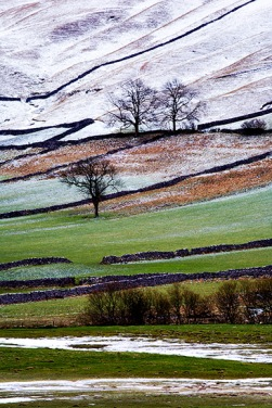 Winter landscape in Upper Wharfedale