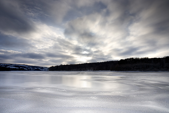 Frozen Swinsty Reservoir