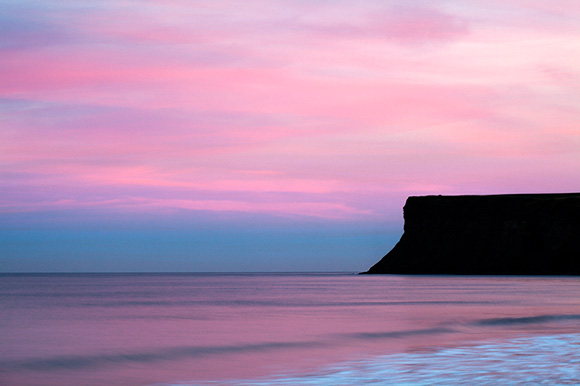Pink Sky over Huntcliff