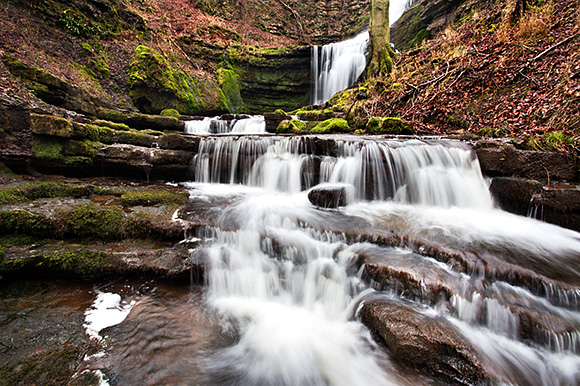 Looking up to Scaleber Force from the lower cascades