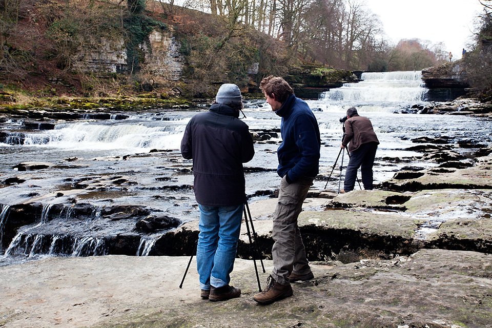 Photographing at Lower Aysgarth Falls