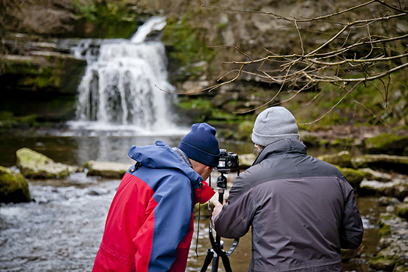 Checking the Histogram after a Long Exposure at West Burton