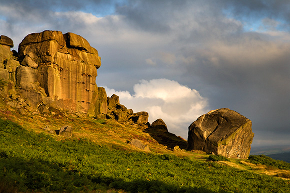 Clouds Clearing Over Cow and Calf Rocks, Ilkley Moor