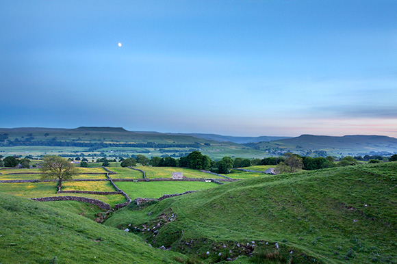 Wensleydale and Addleborough at Dusk
