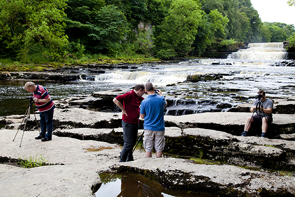 Nice diffused light to capture the moving water at Lower Aysgarth Falls