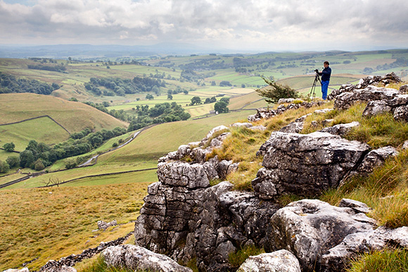 Overlooking Malhamdale from Above Gordale Scar