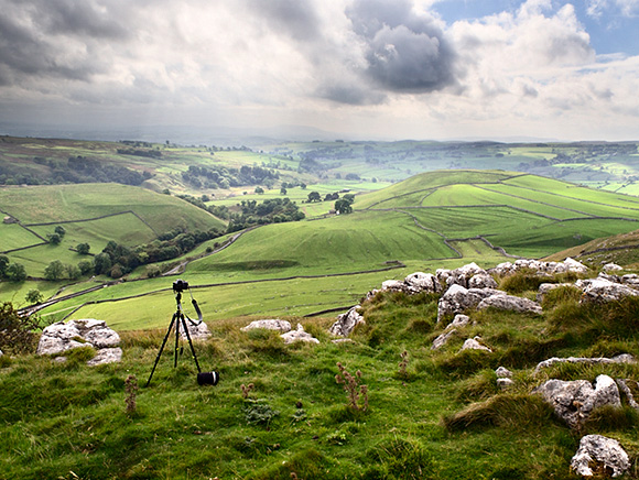 Lone Tripod Over Malhamdale