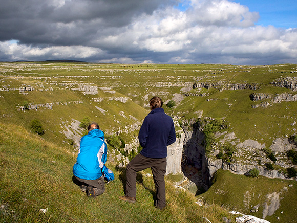 Photographing Cloud Formations Over Gordale Scar