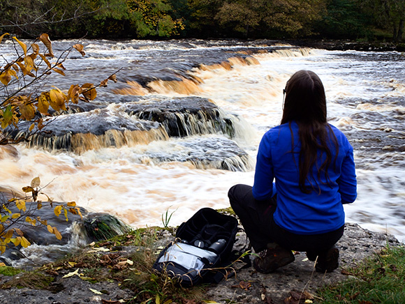Photographing at the rapids on the River Ure