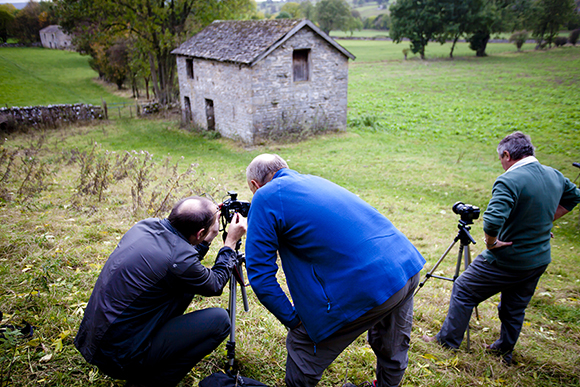 Checking the histogram at the barns near West Burton