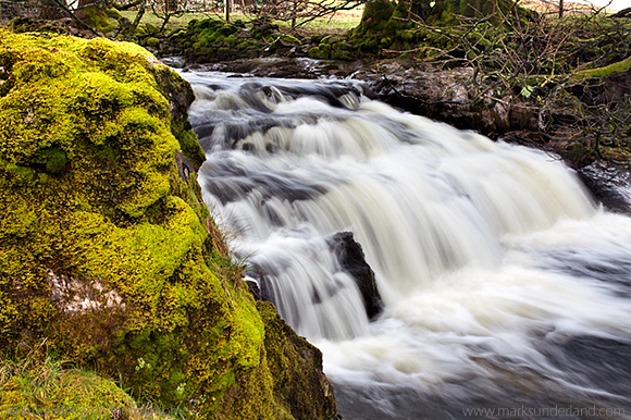 Mossy Rock and Waterfall on Grisedale Beck