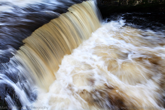 Peaty Water in Stainforth Force on the River Ribble