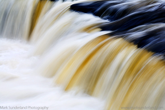 Upper Aysgarth Falls in Wensleydale Yorkshire Dales