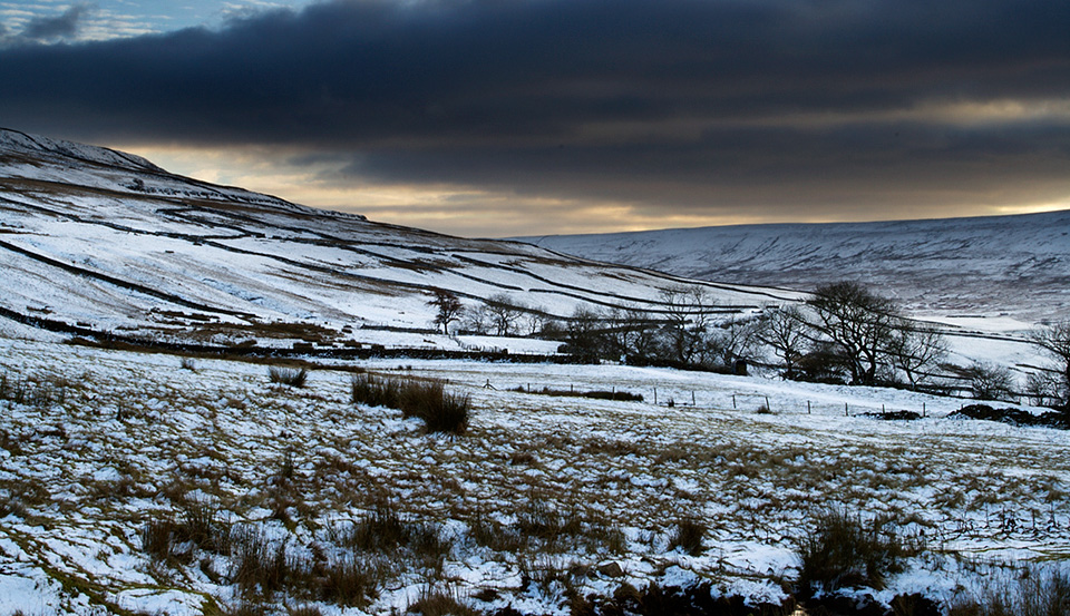 Last Light, Wharfedale near Cray in Upper Wharfedale Yorkshire
