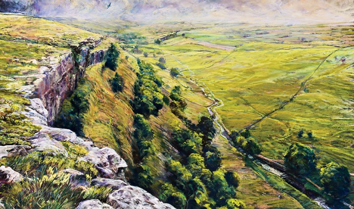 Peregrine above Malham Cove by Robert Dutton