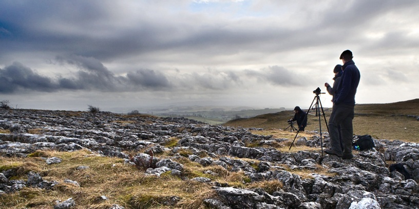 Photographing Limestone Pavement in Malhamdale