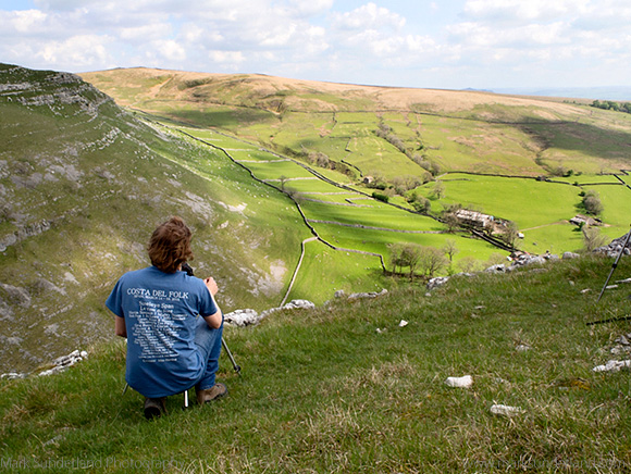 Photographing Fields and Dry Stone Walls from above Gordale Scar