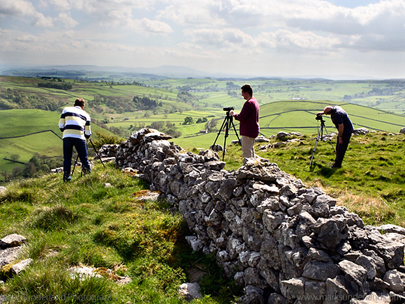 Photographing Malhamdale from above Gordale Scar