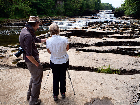 Checking Camera Settings at Lower Aysgarth Falls
