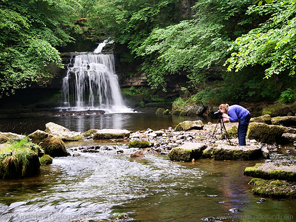 Photographing Water Details at West Burton Falls
