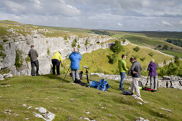 Superb light and views at the top of Malham Cove