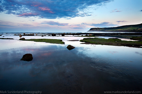 Twilight and Incoming Tide at Robin Hoods Bay