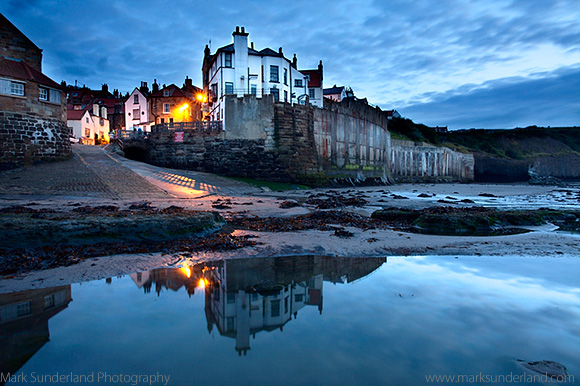 Early Morning Reflections at Robin Hoods Bay