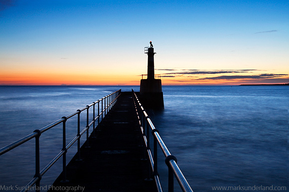 Harbour Light at Dawn, Amble Pier - f22 at 40mm