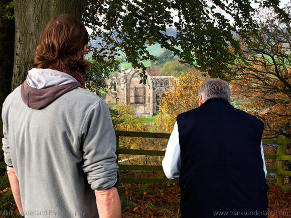 Photographing Autumn Colours around the Abbey from the Viewpoint