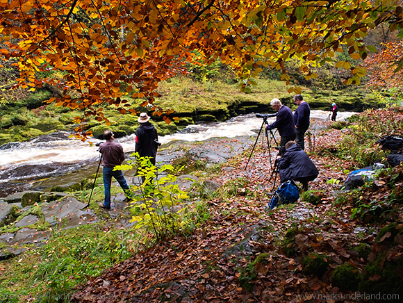 Photographing at The Strid