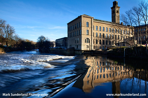 New Mill Former Textiles Mill by the River Aire Saltaire West Yorkshire England