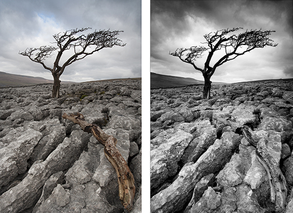 From colour images out of the camera to processed Black and Whites