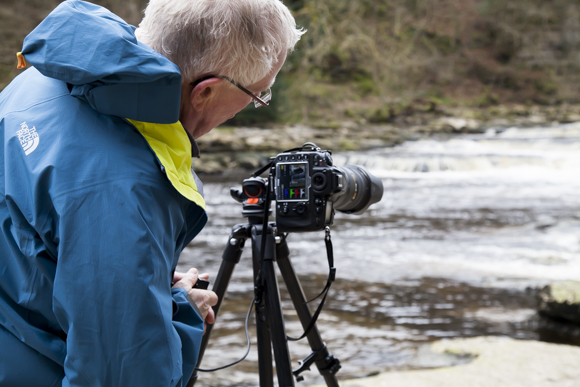 Checking the all important histogram at Lower Aysgarth Falls