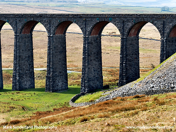 © Mark Sunderland photography - Ribblehead Viaduct from Batty Moss Ribblehead Yorkshire Dales England