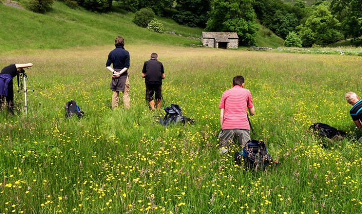 Photographing a Field Barn near Malham
