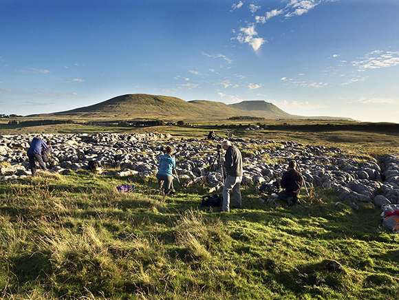 Shooting Ingleborough from the Limestone Pavement at Sunset. Mark Sunderland
